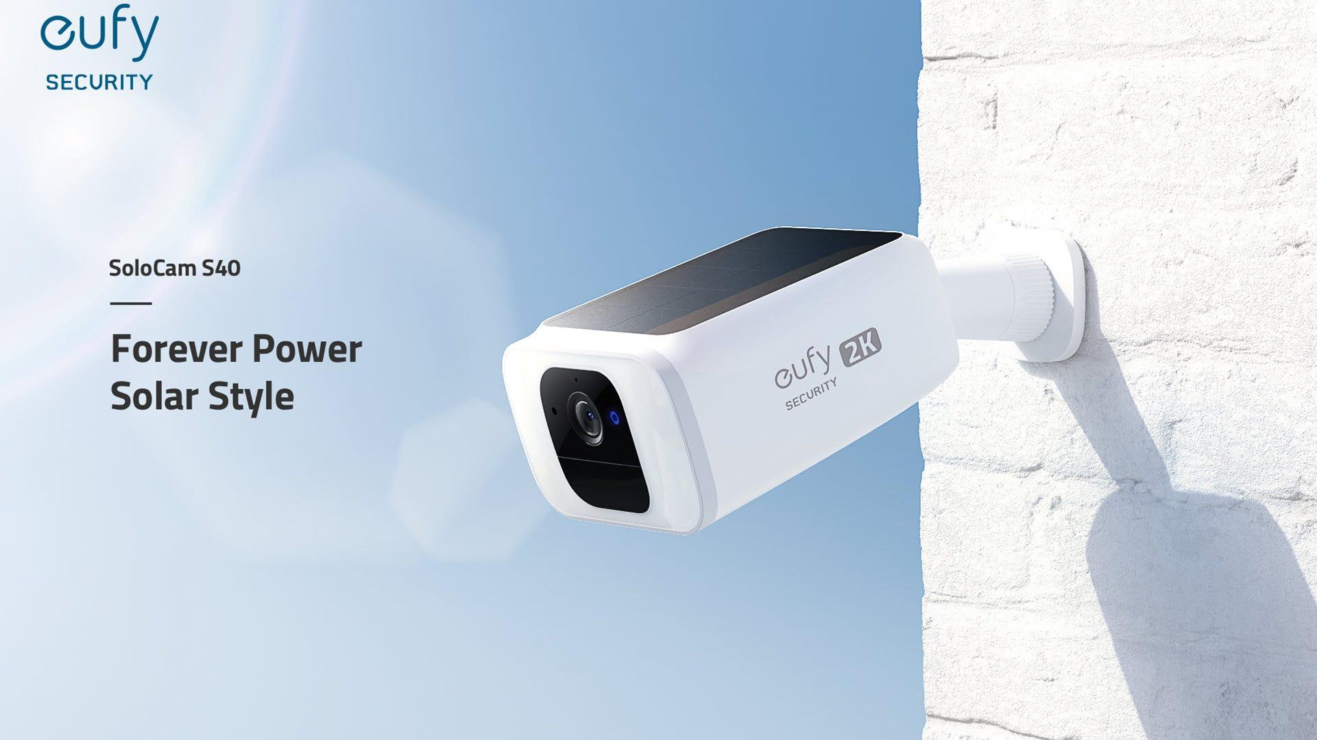 A solar powered camera under the sun.