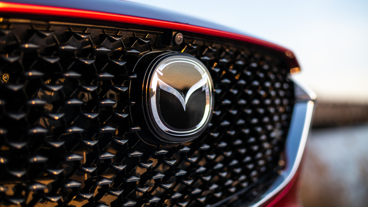 View of the front grille of the Mazda CX-30 compact crossover