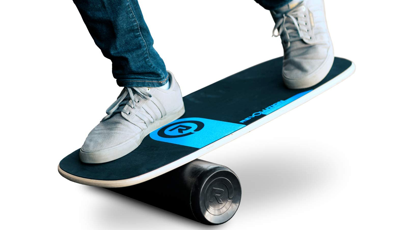 Person balancing on the Revolution 101 board
