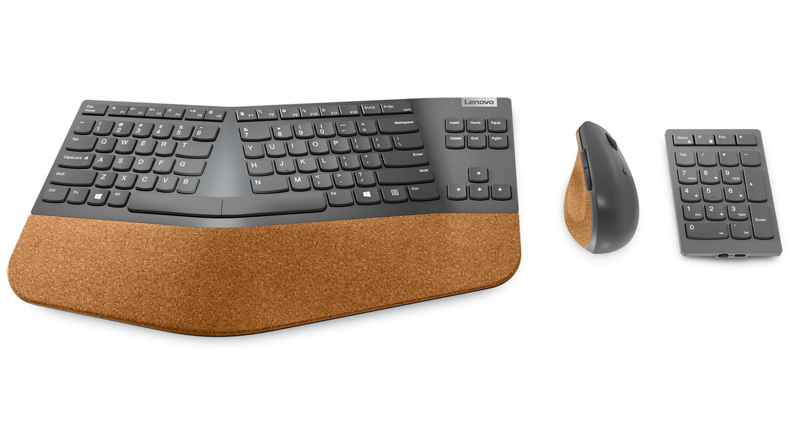 Lenovo Go Wireless Split Keyboard, Wireless Vertical Mouse, and Wireless Numeric Keypad
