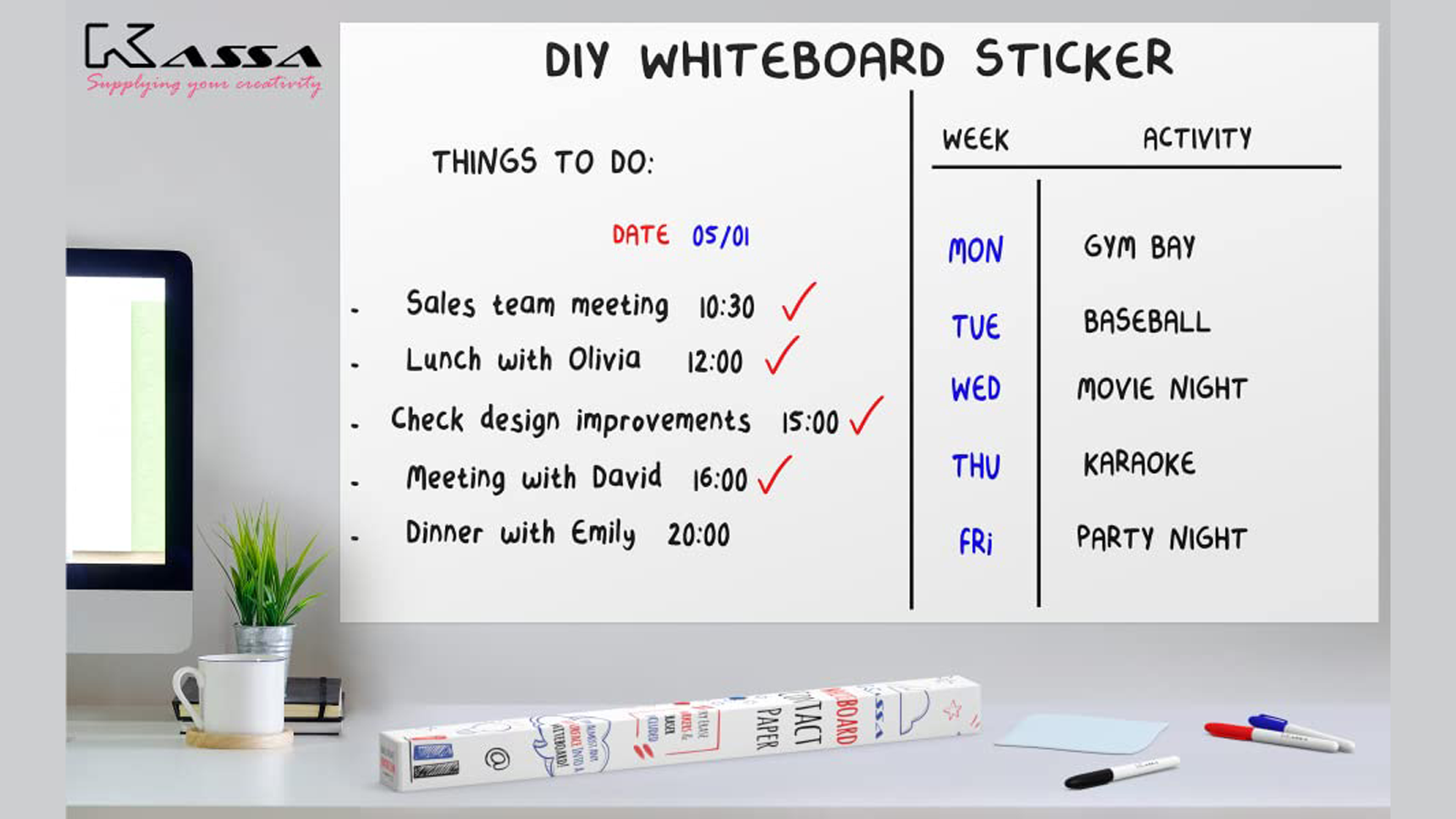 Jot Down Your Great Ideas on This Whiteboard Wall Sticker