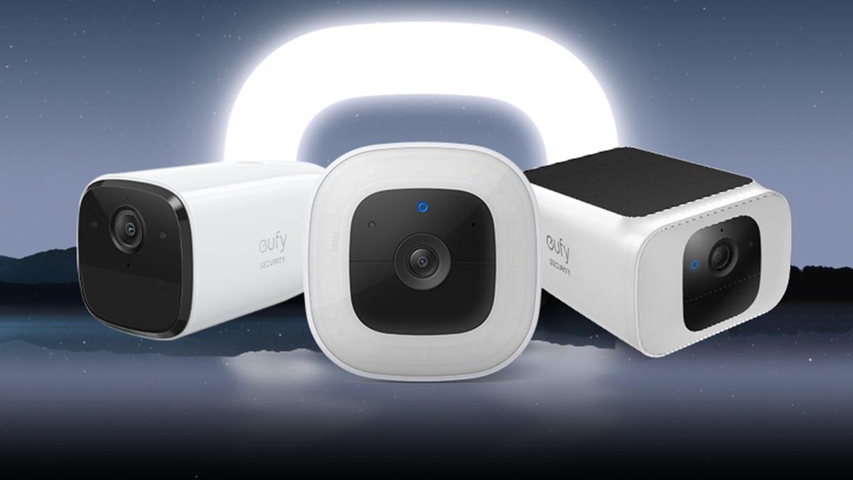 A series of outdoor cameras