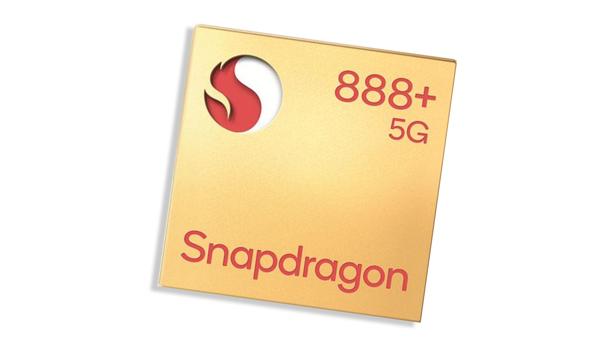 A banner for the Snapdragon 888+ chip.
