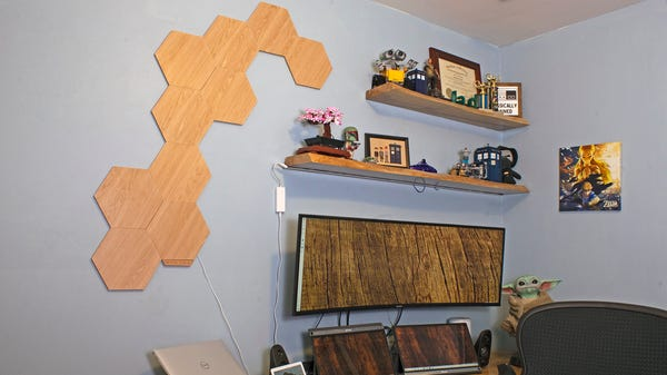 Nanoleaf's New Elements Shapes Bring a Woodgrain Look to Your Smart Home