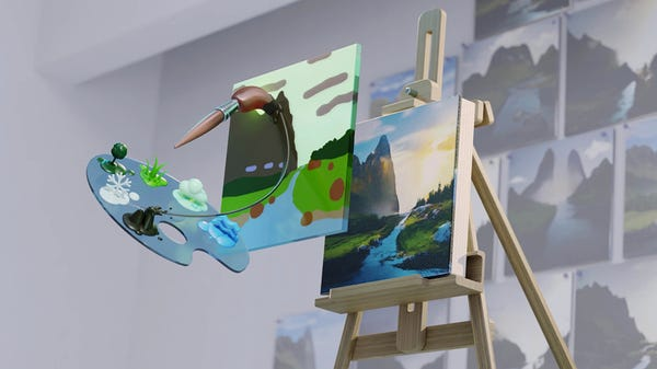 NVIDIA's New Canvas App Uses AI to Turn Your Doodles into Photorealistic Art
