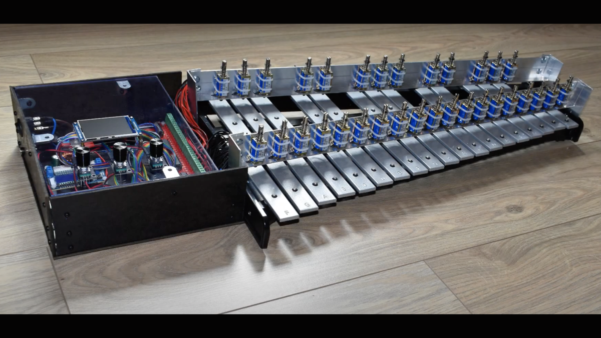 The Raspberry Pi self-playing xylophone