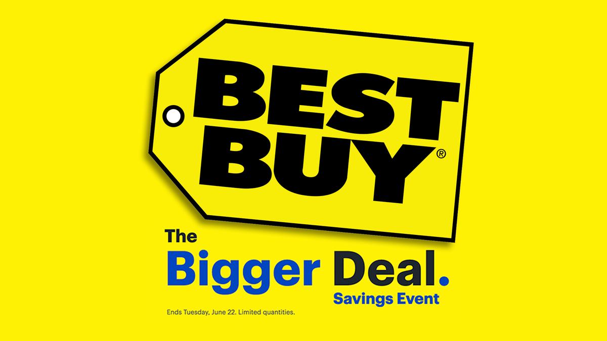 "The Best Buy ""Bigger Deal"" savings event banner."