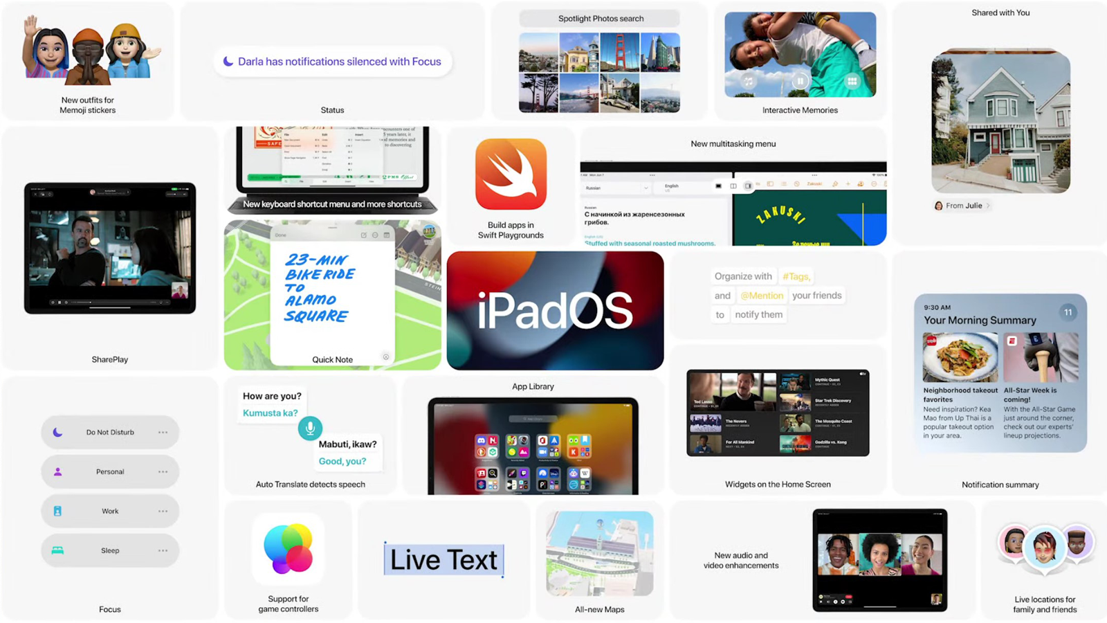 Check out many of the new iPadOS 15 features