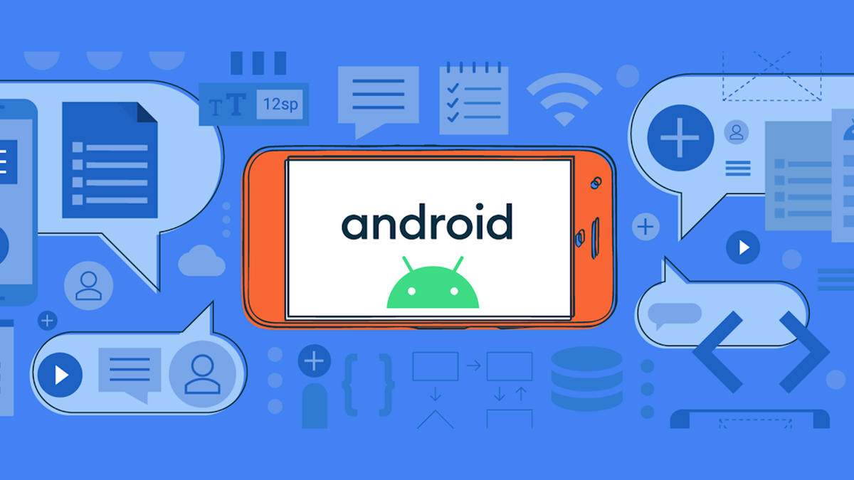 Illustration of a phone running Android