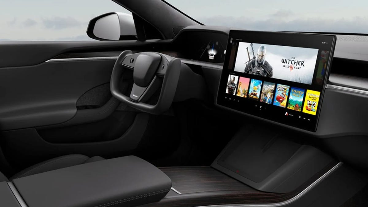 Tesla in-car entertainment system