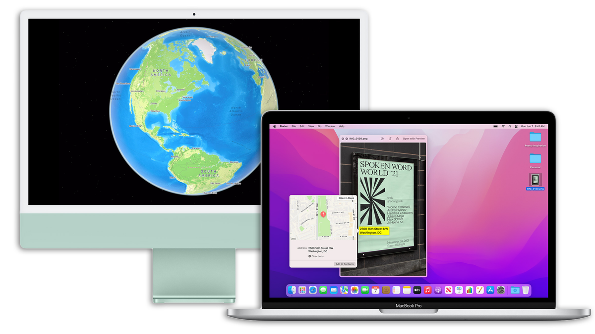 The MacBook Pro and M1 iMac