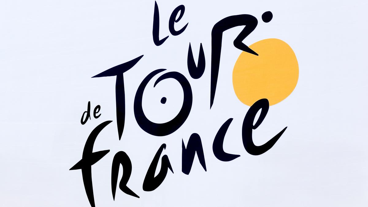 Логотип Le Tour de France на сером фоне