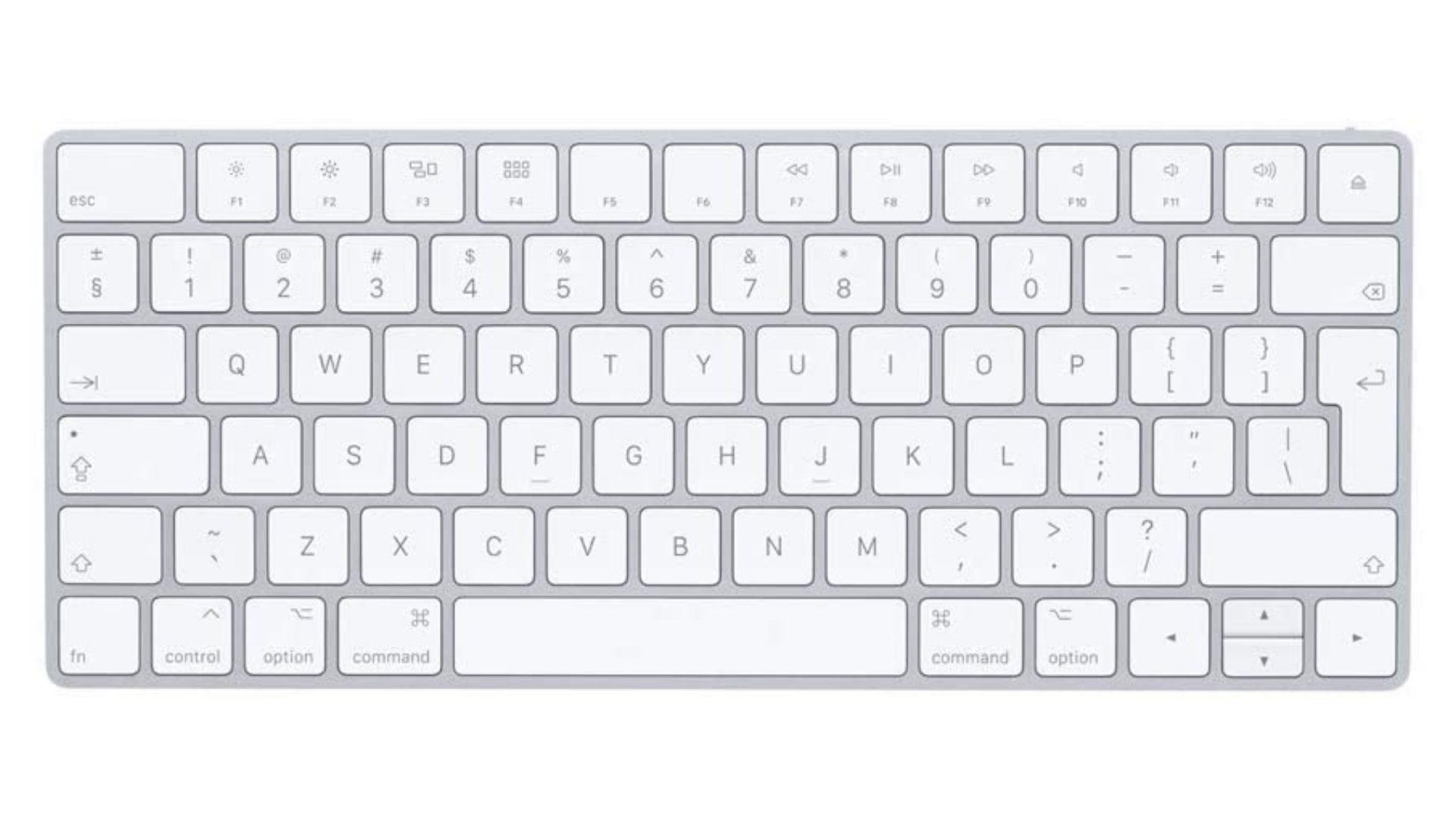Top-down view of Apple Magic Keyboard