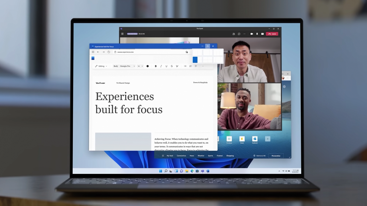 Windows 11 on a laptop.