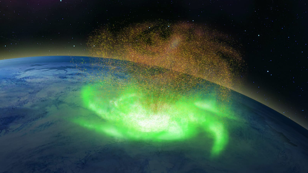 First Documented Space Hurricane Rained Electrons Above the North Pole