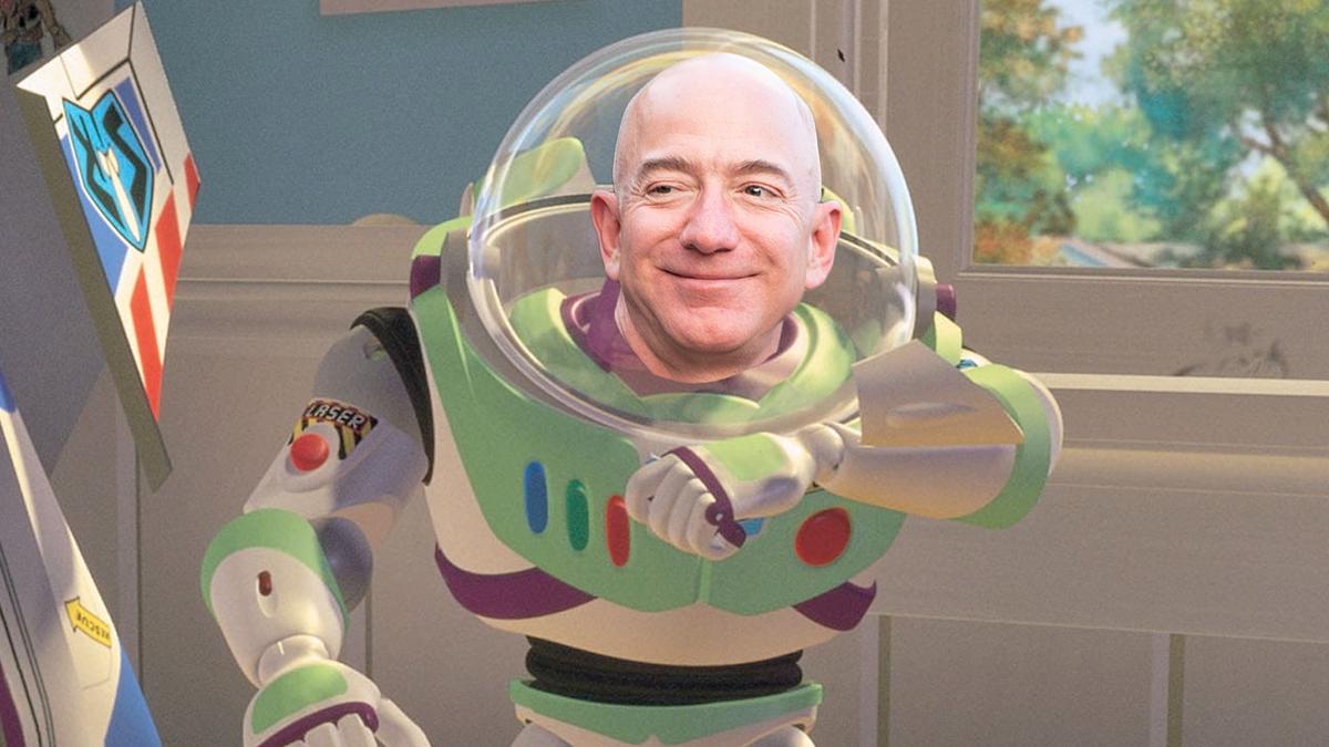 Jeff Bezos Photoshopped Buzz Lightyear.