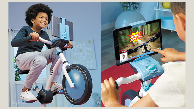 """Little Tikes Debuts a Stationary Peloton … I Mean """"Pelican"""" Bike for Kids"""