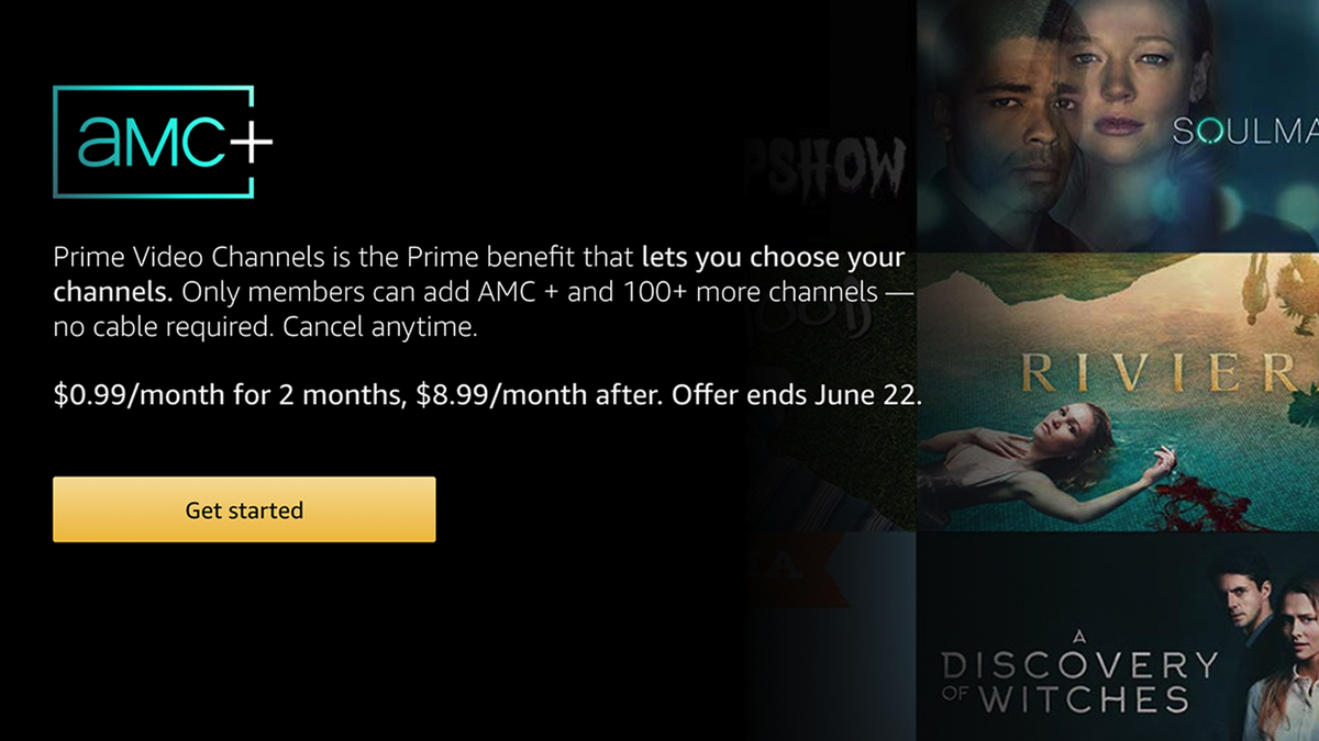 AMC+ Prime Video Channel offer on Amazon.