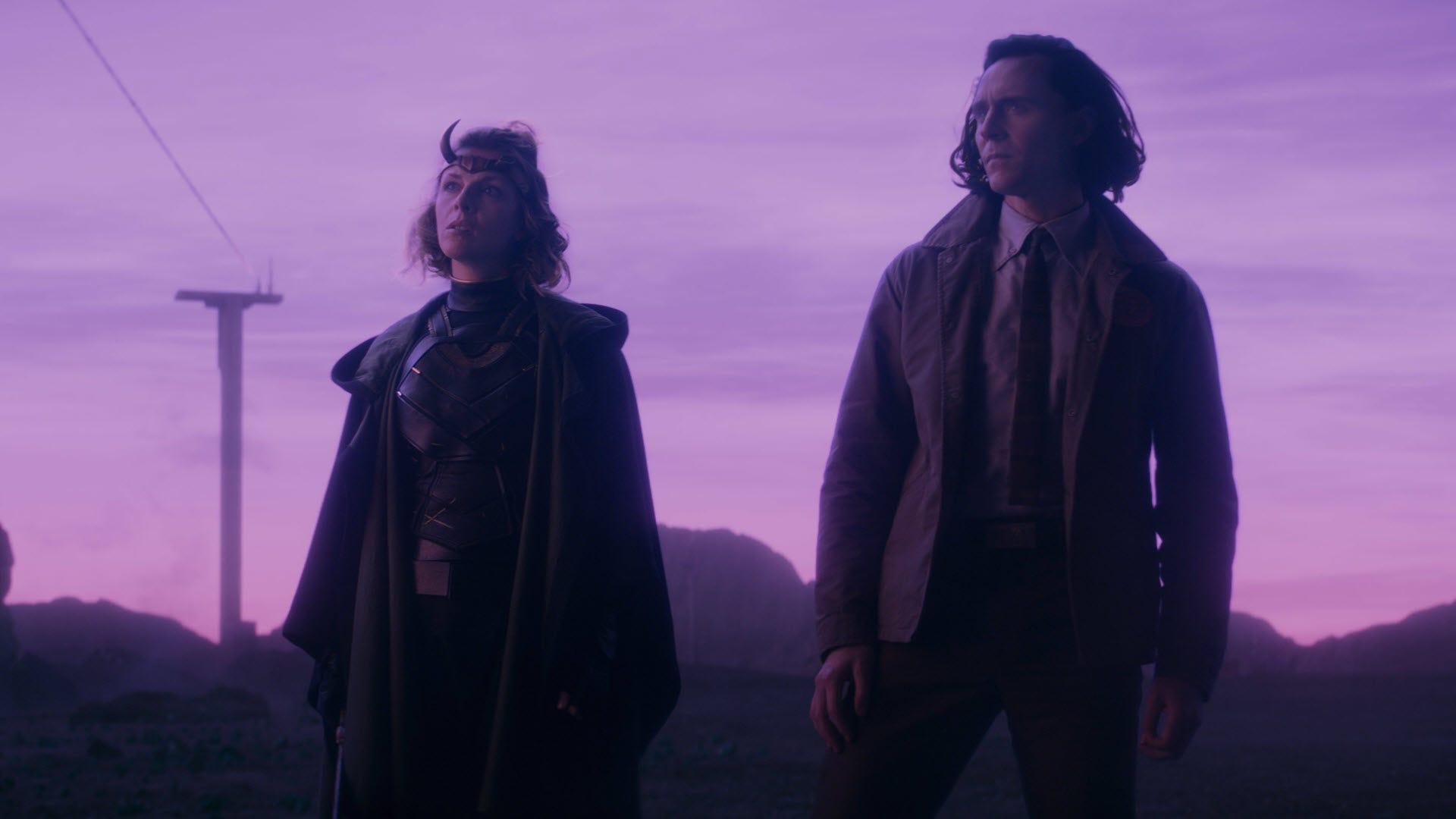 Loki and Sylvie on an alien planet