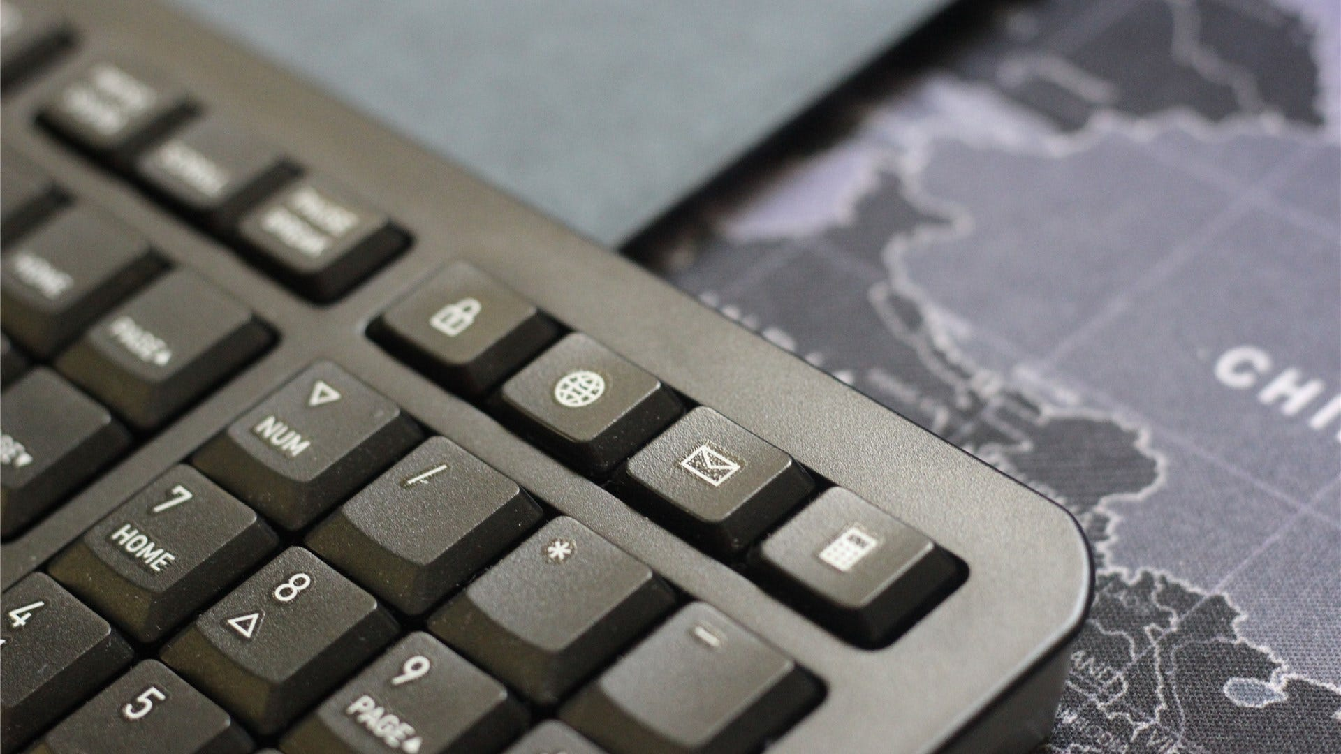A close-up of the additional keys on the Gentix keyboard