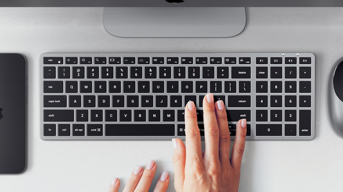 The Satechi Slim X2 keyboard.