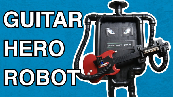 This Raspberry Pi Robot Can Shred Through Any Song on 'Guitar Hero'
