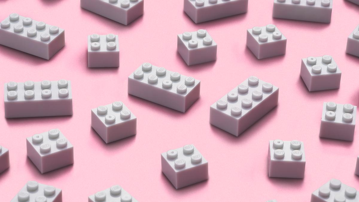 Prototype recycled LEGO bricks.