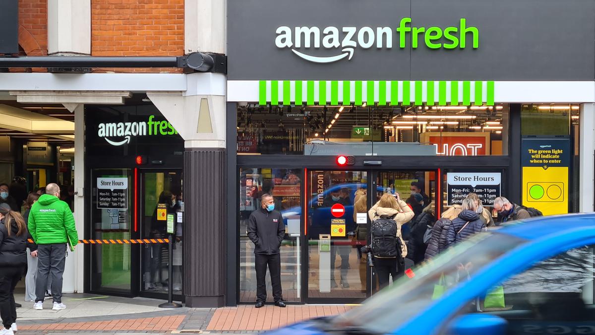 Amazon Fresh store in West London