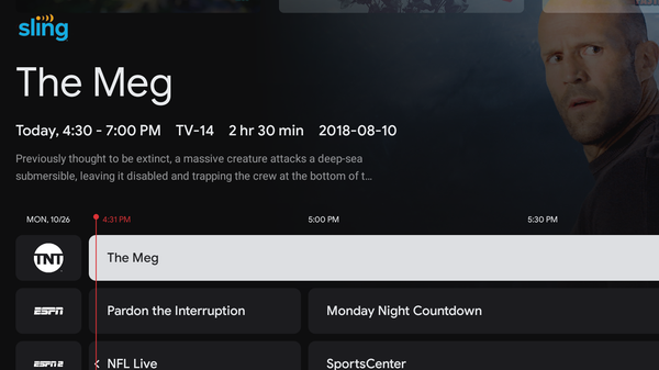 Sling TV Now Integrates Seamlessly with Chromecast's Live TV Tab