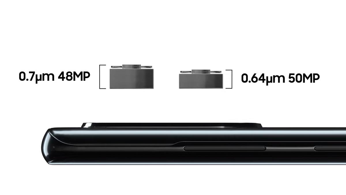 A concept photo of Samsung's new camera sensor.