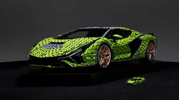 This Life-Size LEGO Lamborghini Sián FKP 37 Weighs More Than the Real Thing