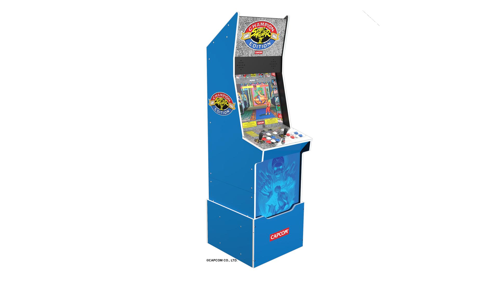 A Blue 'Street Fighter II' machine