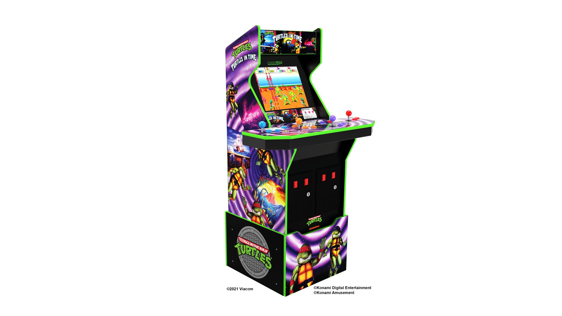A Teenage Mutant Ninja Turtles arcade machine