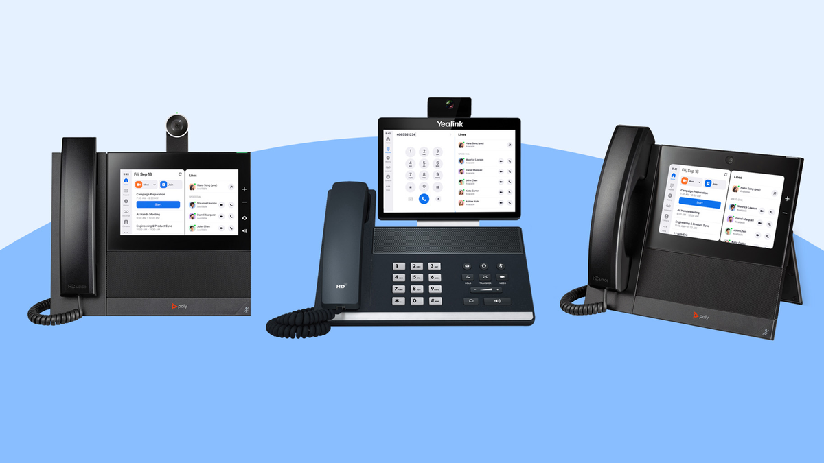 Zoom's three new phone appliances for video calls and phone calls in the office
