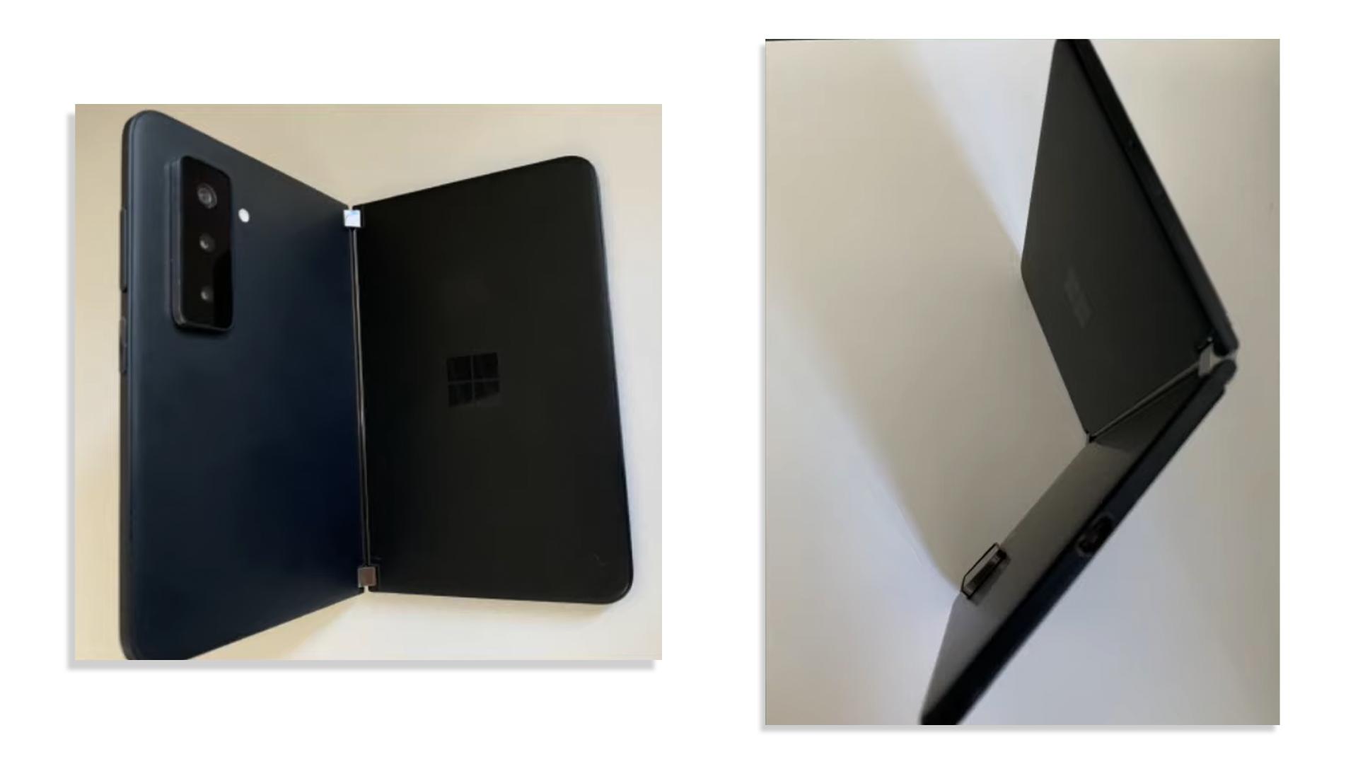 Microsoft Surface Duo leak in black