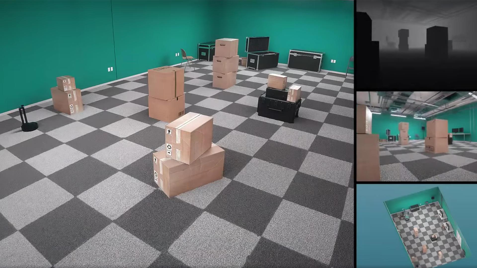 Habitat 2.0 running training simulations