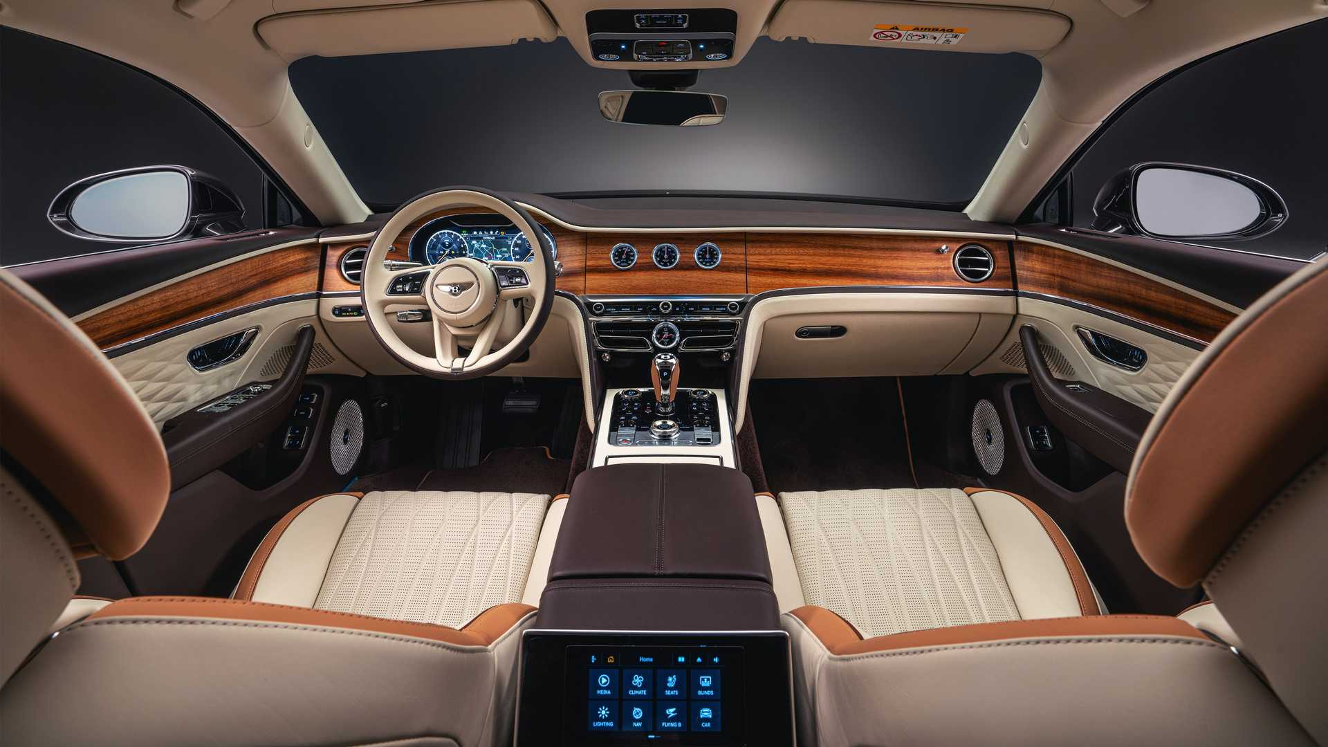 The Bentley Flying Spur PHEV Odyssean Edition interior.