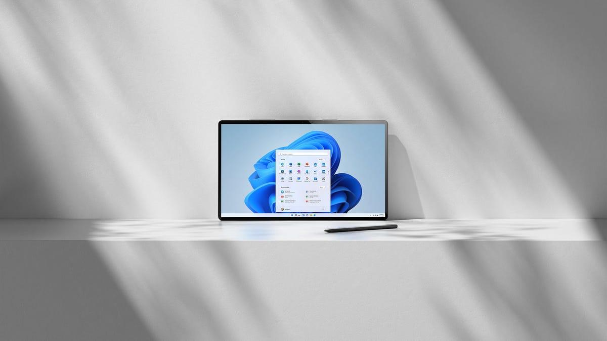A tablet running Windows 11