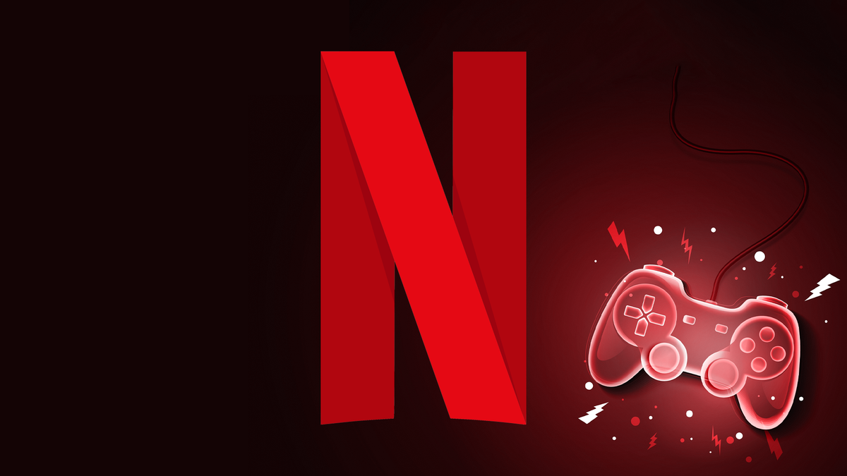 The Netflix logo and a gamepad.
