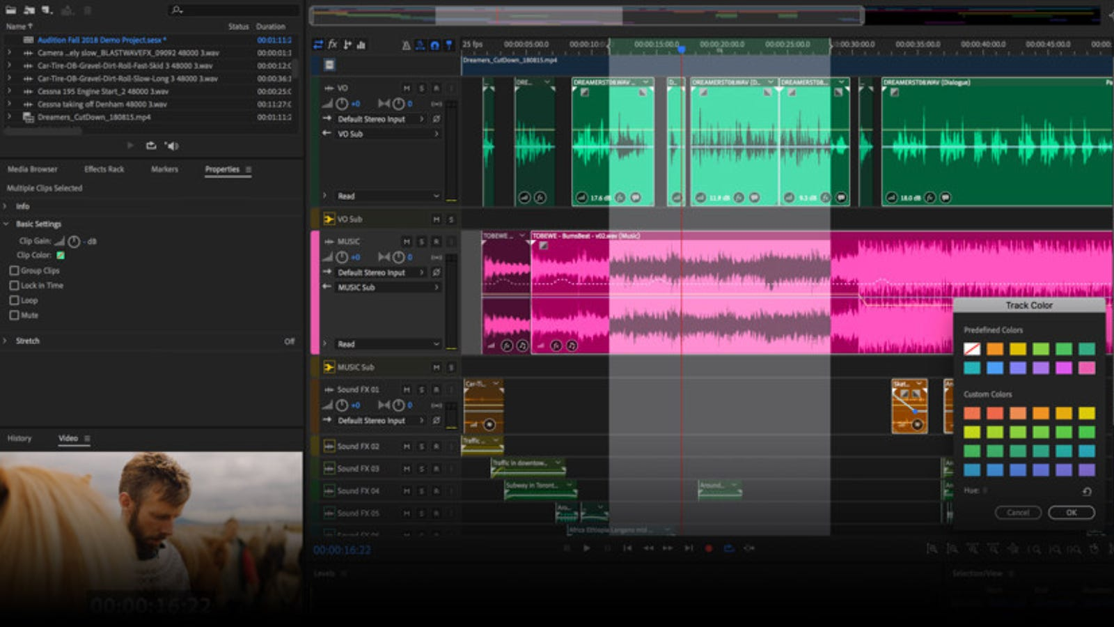 Adobe Audition main editing page