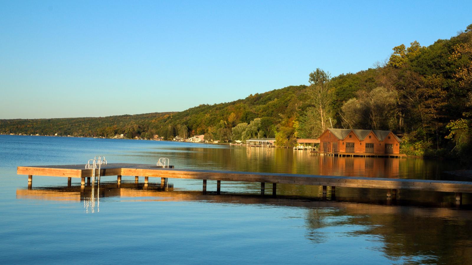 Sunset on Seneca Lake at Watkins Glen, New York