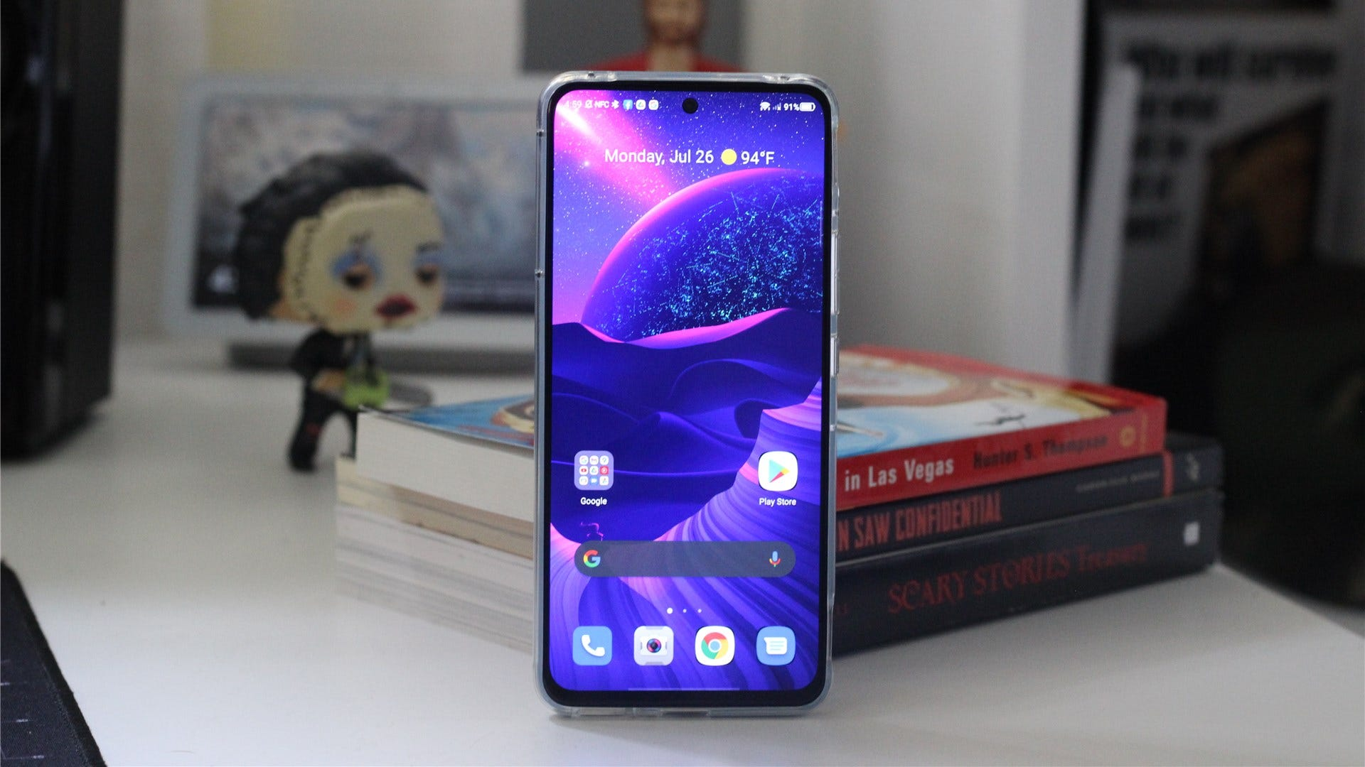 the phone's display