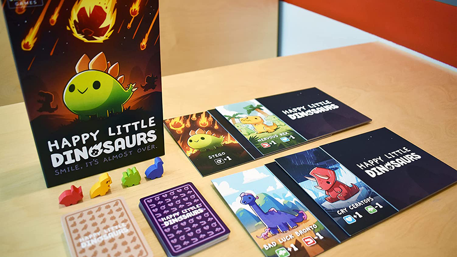 Game components laid out on table
