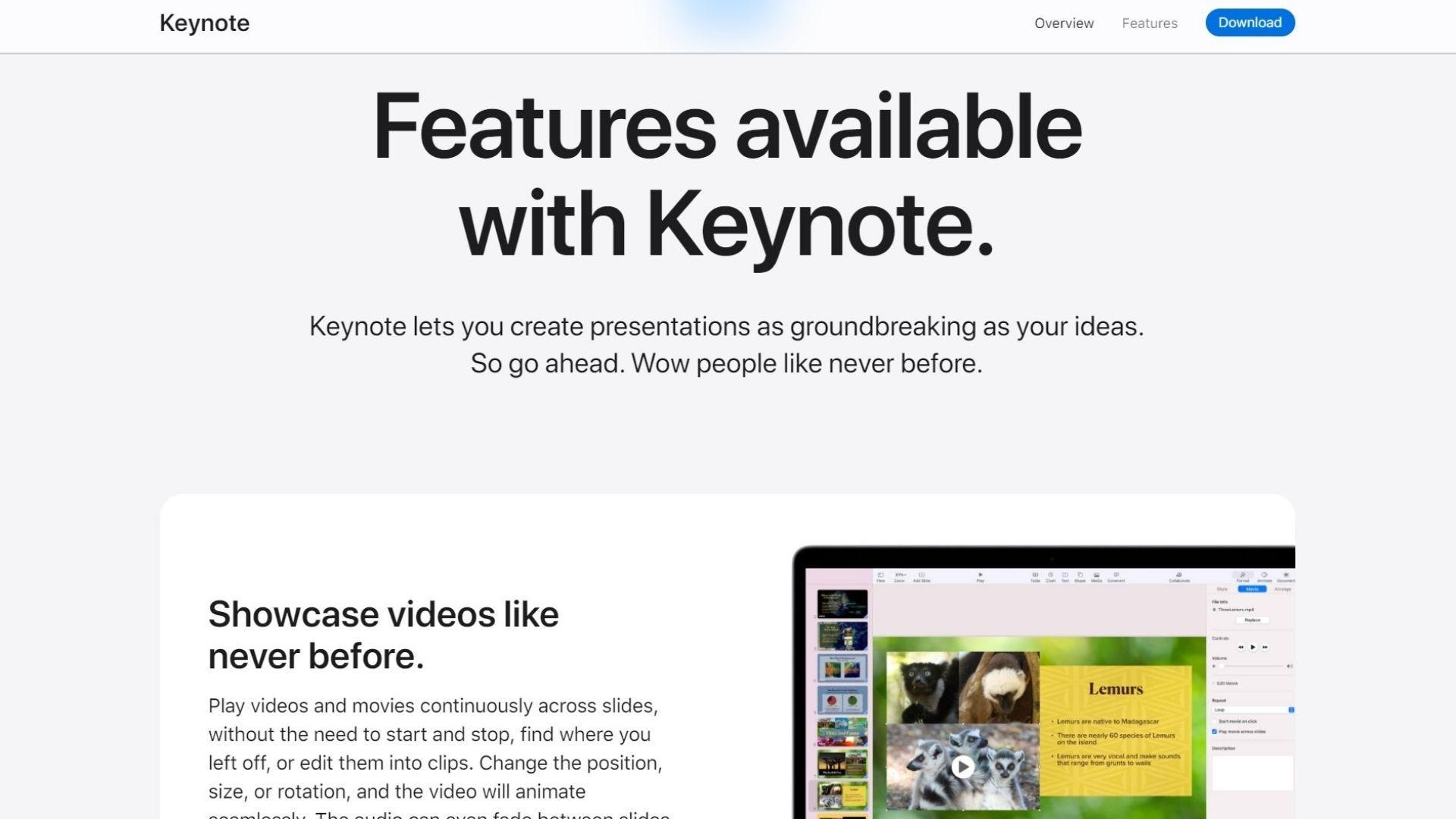 apple keynote home screen