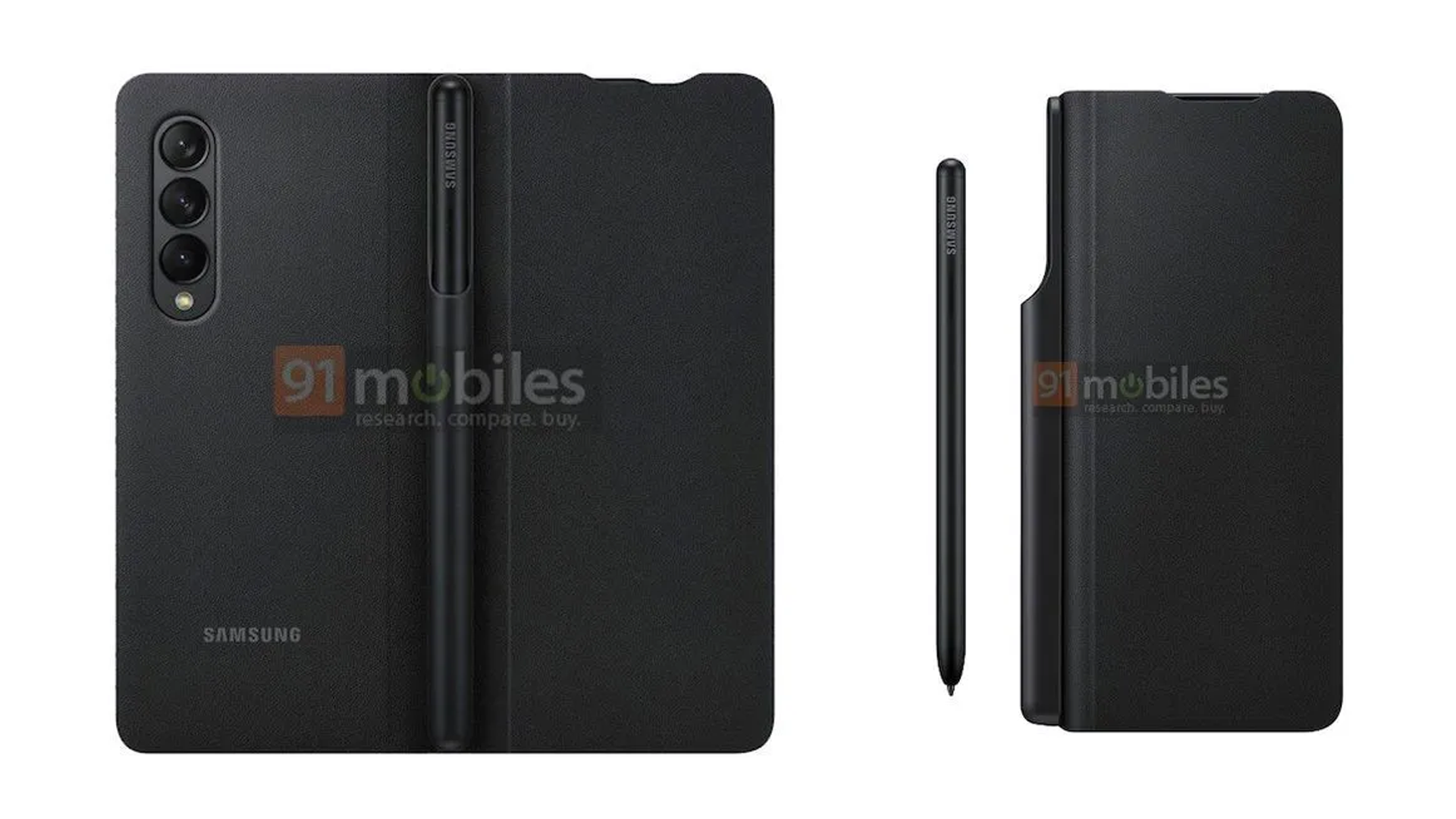 Leaked images of the S Pen with Galaxy Z Fold 3.