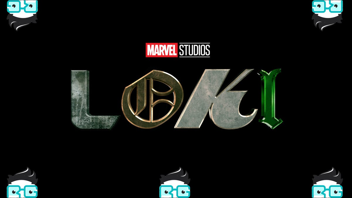 The Loki logo surrounded by 5 Review geek logos