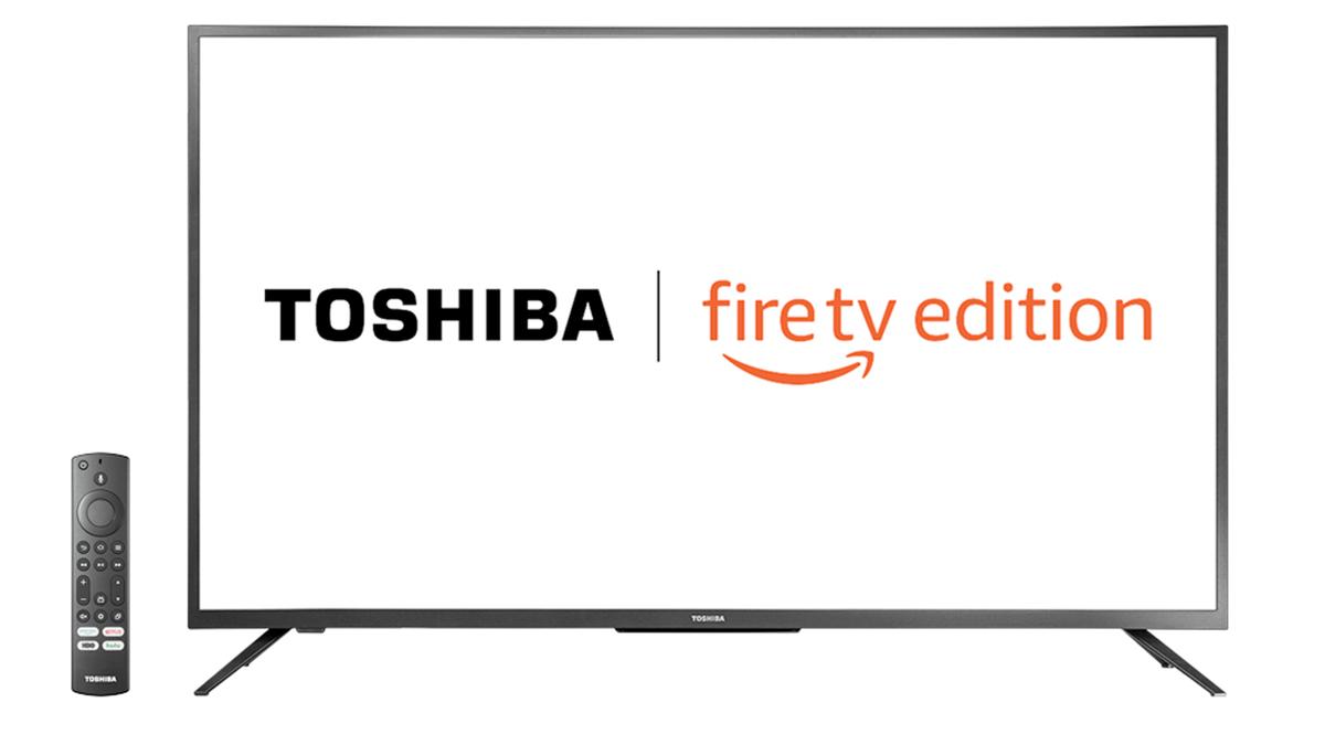A Toshiba 4K UHD Fire TV.