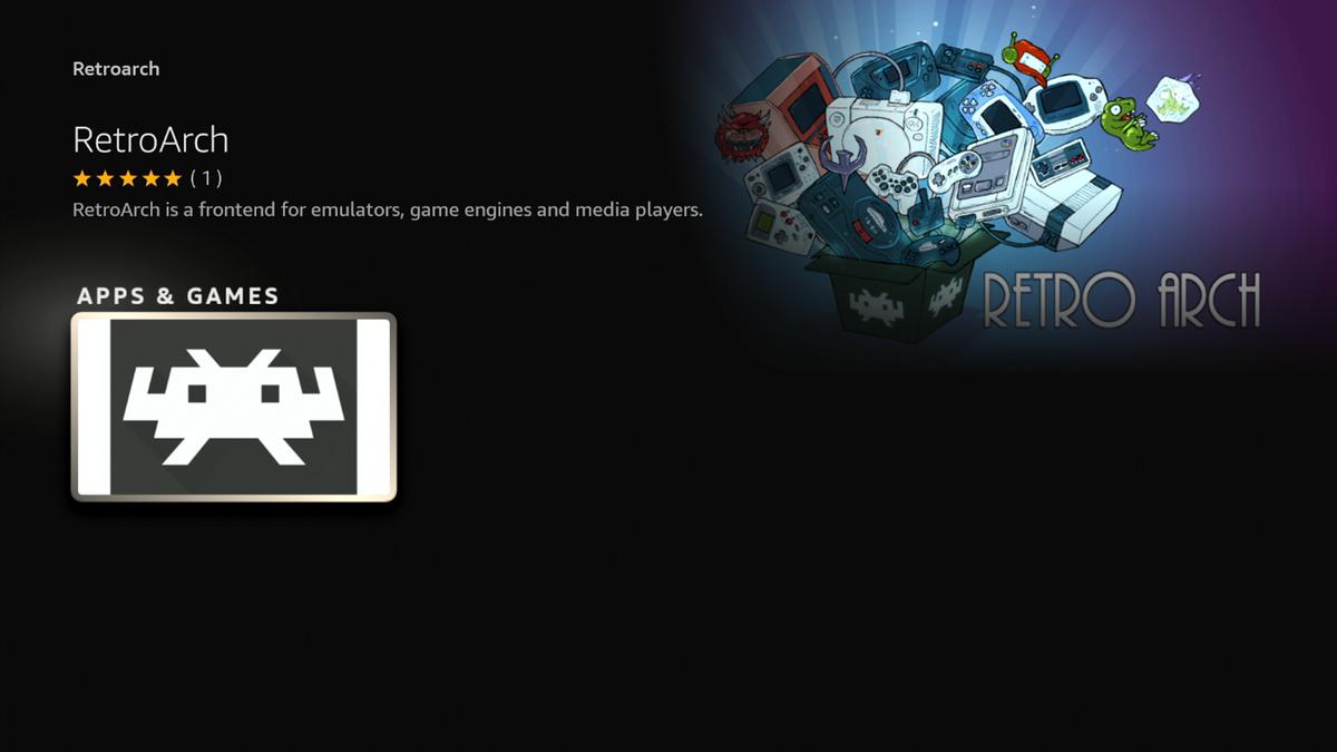 RetroArch download in Amazon Appstore screen