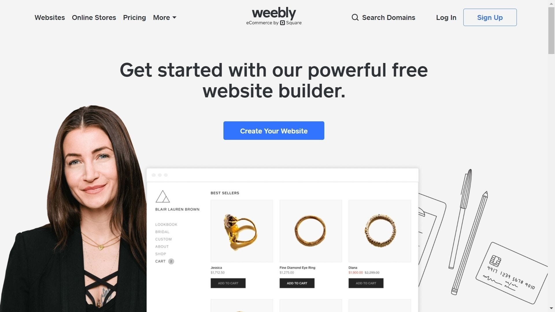 weebly website builder home page