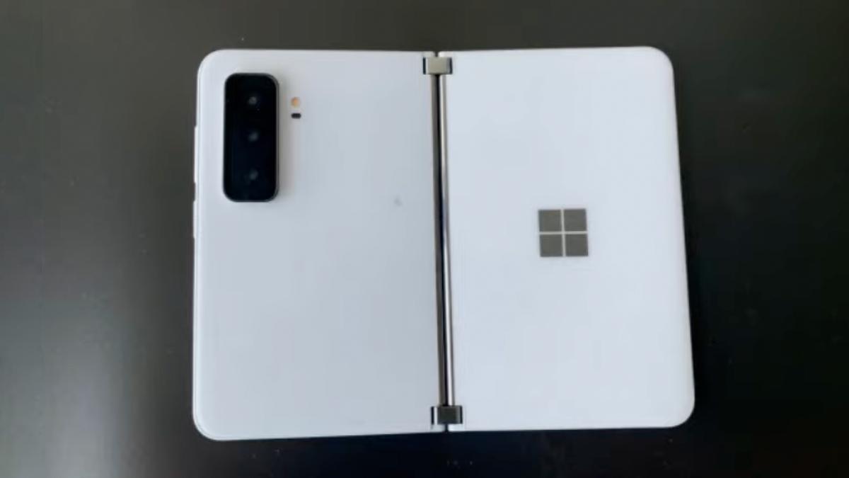 Microsoft Surface Duo leak in white